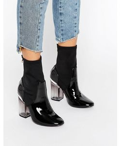 Truffle Collection   Clear Heel Boot