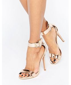 Truffle Collection | Truffle Barely There Sandal Rose Gold Pu