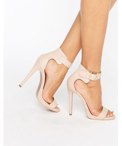 Truffle Collection | Truffle Barely There Sandal Nude Pu