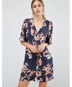 Just Female | Floral Playsuit Anthracite Aop