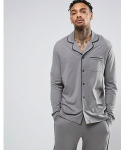 ASOS | Pyjama Top With Black Piping