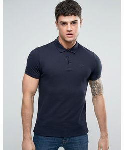 Armani Jeans | Pique Logo Polo Regular Fit In Blu