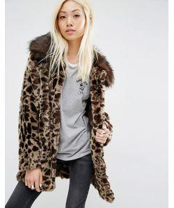Unreal Fur | Faux Fur Leopard Coat
