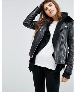 Goosecraft | Leather Jacket With Faux Fur Collar
