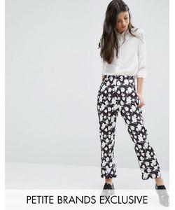 Alter Petite | Pyjama Style Trouser In Floral Print Mono