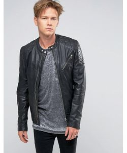 Goosecraft | Leather Biker Jacket Quilt Shoulder In