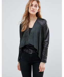 Muubaa | Waterfall Leather Jacket Granite