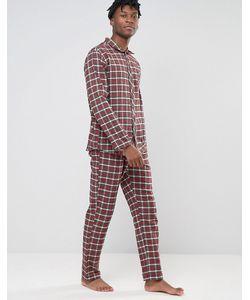 Esprit | Pyjamas In Flannel Check In Regular Fit