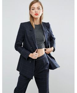 ASOS | Mansy Suit Blazer With Contrast Stitch