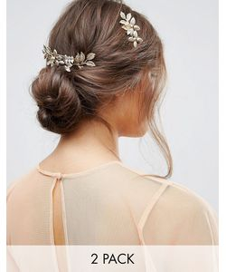 ASOS | Pack Of 2 Occasion Metal Flower Hair Combs