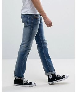 Diesel | Safado Straight Fit Jeans 84dd Mid Wash Abrasisions