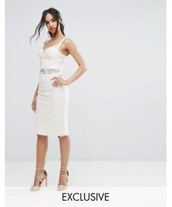 Chi Chi London | Crochet Lace Pencil Skirt Co Ord