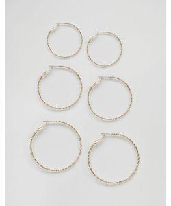 MONKI | 3 Pack Hoop Earrings