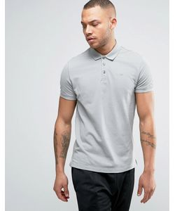 Armani Jeans | Pique Logo Polo Regular Fit In Charcoal