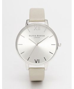 Olivia Burton | Big Dial Leather Strap Watch