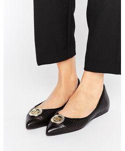 Love Moschino | Metal Trim Flat Shoes