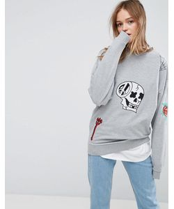 ASOS | X Lot Stock Barrel Sweat With Embroidery In