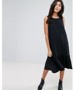 YMC | Drop Waist Ruffle Hem Dress