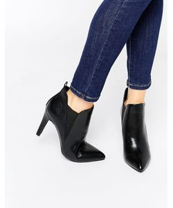 London Rebel | Point Heeled Ankle Boots Pu