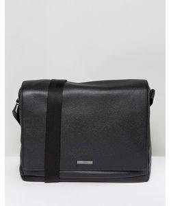 Hugo   By Boss Element Leather Messenger Bag