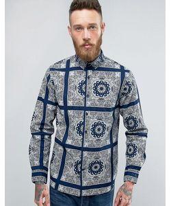 Edwin | Standard Shirt Indigo Bandana