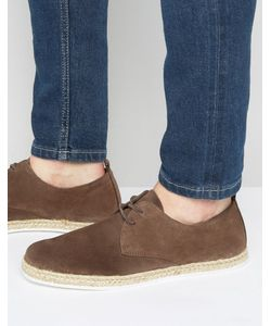 Zign | Suede Lace Up Shoe With Espadrille Detail