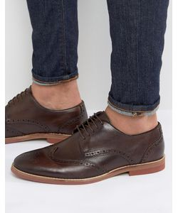 ASOS | Brogue Shoes In Leather With Contrast Sole