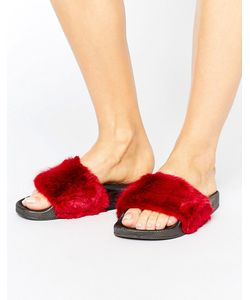 Truffle Collection   Truffle Fur Slider Sandal