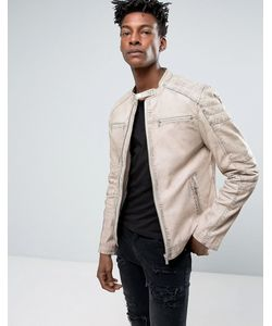 Goosecraft | Leather Jacket With Quilting In Off