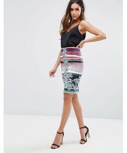 Clover Canyon | Seaside Horizone Noeprene Pencil Skirt