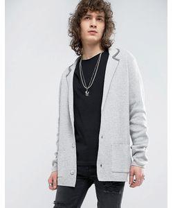 ASOS   Slim Fit Knitted Blazer In