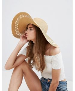 ASOS | Wide Brim Floppy Hat With Open Weave Insert
