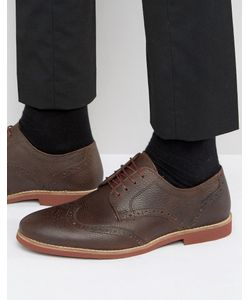 Red Tape | Brogues In Milled Leather