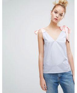 Sonia By Sonia Rykiel | Bow Shoulder Stripe Top