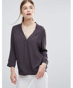 Just Female | Lola Blouse Anthracite