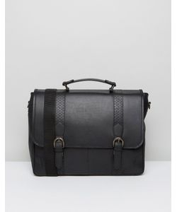 ASOS | Leather Satchel In With Brogue Detailing