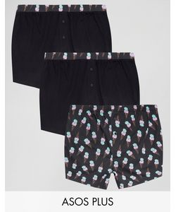 ASOS | Plus Jersey Boxers With Ice Cream Print 3 Pack