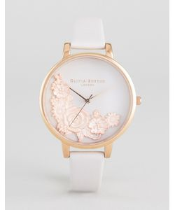 Olivia Burton | Begin To Blush Lace Leather Watch