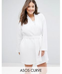 ASOS Curve | Waffle Hotel Robe In 100 Cotton