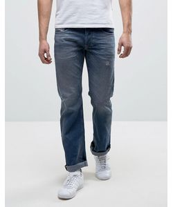 Diesel | Larkee Straight Fit Jean 084dc Mid Wash Rip And Repair
