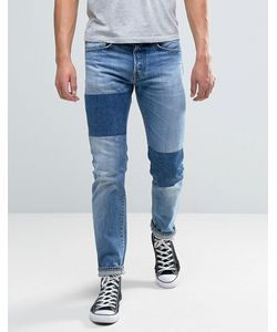 Edwin | Ed-80 Slim Tapered Jean Light Sheild Wash Dye Patches