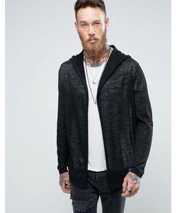 ASOS | Knitted Hooded Cardigan In Sheer Yarn