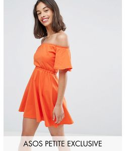 ASOS Petite   Off Shoulder Skater Dress
