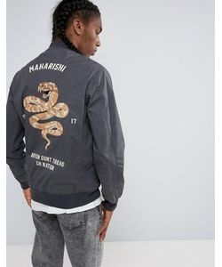 Maharishi | Embroidered Snake Tour Bomber Jacket