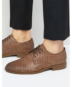 New Look | Derby Shoes With Woven Detail In