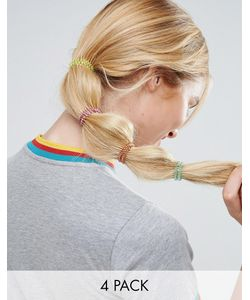ASOS | Pack Of 4 Rainbow Hair Coils