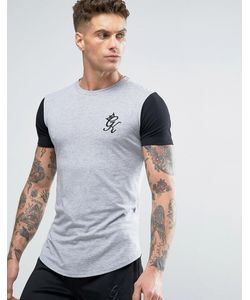 9e18f65e Gym King - Logo T-Shirt In Muscle Fit With Contrast Sleeves