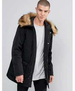 Armani Jeans | Parka With Faux Fur Trim In