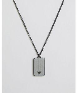 Emporio Armani | Logo Dog Tag Necklace In