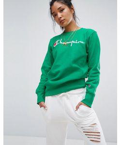 Champion | Crew Neck Sweatshirt With Script Logo